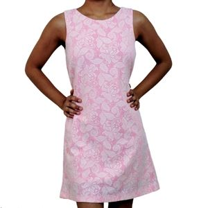 H&M lace pink&White Floral dress Xsmall